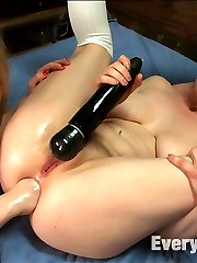 Two cute little college girls get perverted punishment in the form of kinky extreme anal sex!...