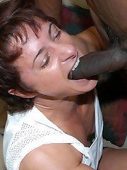 This mature female bodybuilder loves the black bone