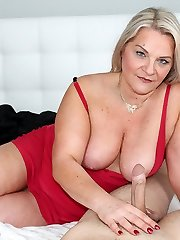Drizzling with Step Mom at Over40handjobs