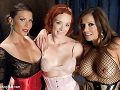 The one and only Audrey Hollander comes back for an intense session of anal submission!  Francesca Le and Ariel X team up to accurately stretch, stuff and clean out Audrey's incredible asshole.  There is double anal, ass worship galore, ultra wide speculum stretching, widely opened, anal going knuckle deep, slapping, giant cable-on tag team and enema.  Enjoy!