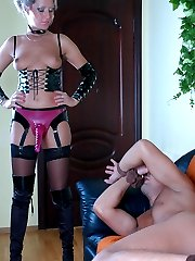 Strap-on armed babe gets a guys piece of ass while taking out her weapon