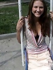 Cool panty upskirt was shot in the porch