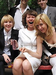 Upskirt girls have fun at party