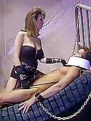 Bdsm mistress lets the slave fuck her in 70s porn