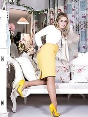 Skye loves the vintage look, and even at work she has to wear her RHT nylons and vintage...