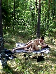 Hot teen girl gets fucked in the woods