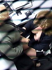 Milf busty secretary caught with co-worker on hidden cam