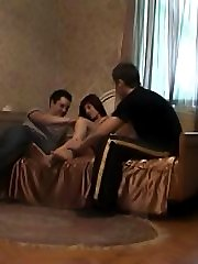 Two dudes and one girl caught having sex