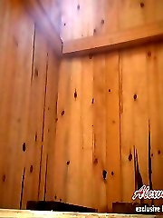 Watch this fantastic real voyeur pissing clip of an unaware girl in the summer toilet
