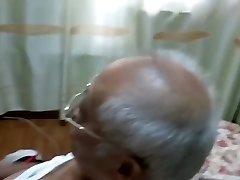 chinese grandpa jacking off