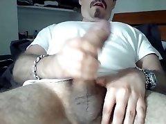 Indeed huge cock cumming