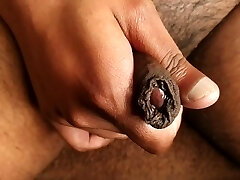 Up Close With My Uncut Cock & Spunk