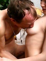 Teen slut crammed by older guy