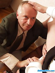 Hot leggy secretary pleasures her old boss's rod