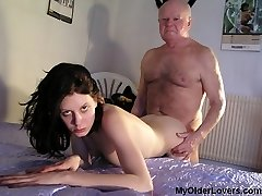 Large old dick for wet tight slit
