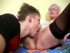 Pervert lady gets banged