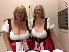 Oktoberfest - 2 busty bra-less blondes