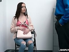 Saucy and cute teen Aliya Brynn is torn up and disciplined for shoplifting