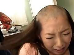 headshave japanese chick