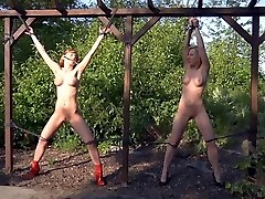 CMNF - Slave girls cropped and humiliated BDSM