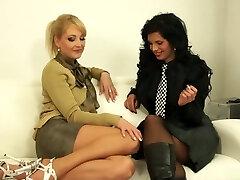 Exotic pornstars Susan Snow and Alyssia Loop in epic lingerie, brazilian adult clamp