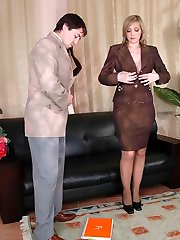 Salacious chick seducing her co-worker into ass-tearing up during lunch break