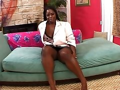 Horny ebony loves a xxl hard knob
