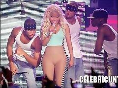 Dark-hued Celeb Nicki Minaj Exposed Juicy Bra-stuffers And Cumshot Selfie