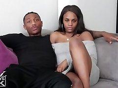 black step brother-in-law fucks black step sister
