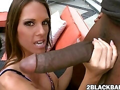 Jennifer Dark banged by big black man sausage