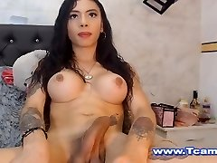 Beautiful Tgirl On Her Inviting Masturbstion