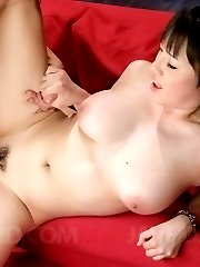 Azusa Nagasawa Asian with big cans sucks cock after is fingered