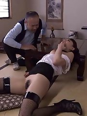 Amateur in fishnets and with big boobs gets JapaneseSlurp.com