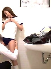 Amateur Asian doll has shorts taken off and JapaneseSlurp.com