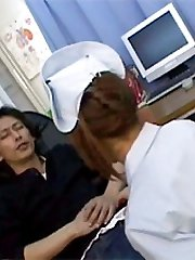 Asian nurse jerks boner