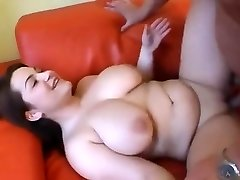 Super-cute Chubby girl having fun bags sucked and fucked