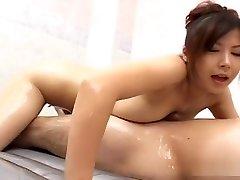 Mature Marin Asaoka gives an softcore rubdown
