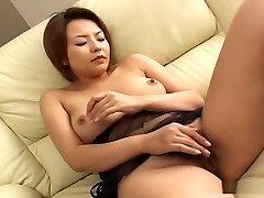 Busty Rio Kurusu masturbation