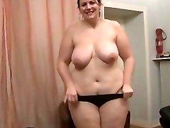 Brunette Amateur-BBW-Milf Anal