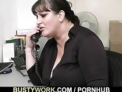 Conversation leads to sex for this busty babe