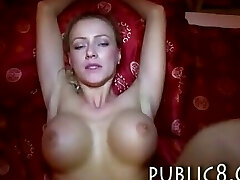 Big fake tits unexperienced gets paid for sex and jizzed on
