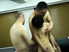 Tugged asian twink shoots a load