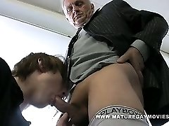 Daddy Gets His Ass Plumbed By Red Haired Lad