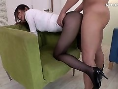 neighbour heels in stockings high heels