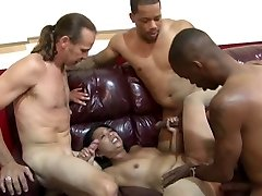 Asian Cougar's Office Gang Drill