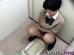 Japanese teenage pissing