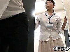 Slutty scene of real hard core fuckin' in the workplace