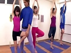 Asian coach acquires erection at the gym three
