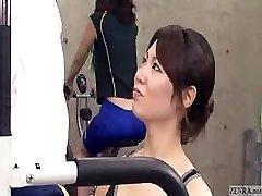 trainer japoneză devine erectie la sală