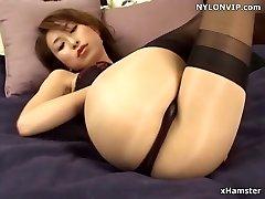 pantyhose covered nylon stocking legs